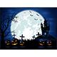 Dark Halloween Night with Pumpkins