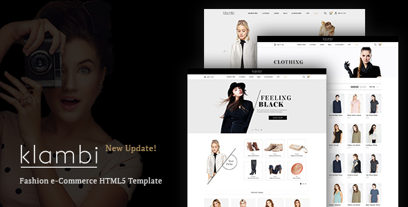 Klambi - E-Commerce Fashion HTML5 Template