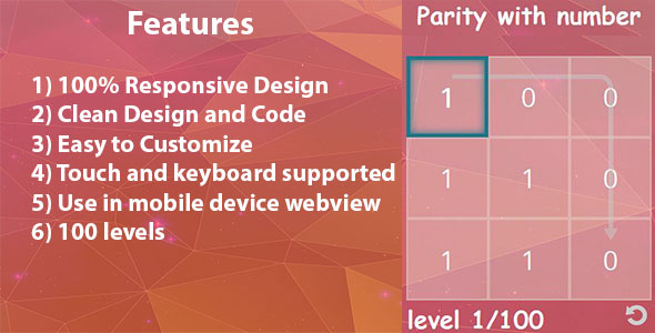 Download Parity with number HTML 5 game nulled download