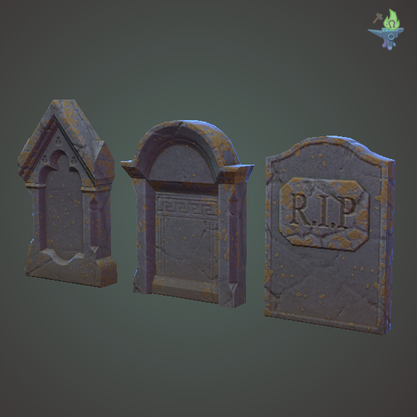 Head Stones - 3DOcean Item for Sale