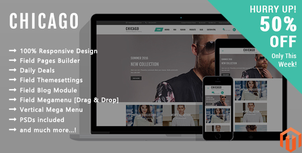 Chicago – Responsive Magento 2 Theme (Fashion) Download