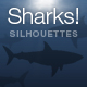 Randomized Shark Silhouettes - ActiveDen Item for Sale