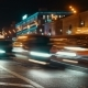 Night Lights Of City With Traffic, Time Laps