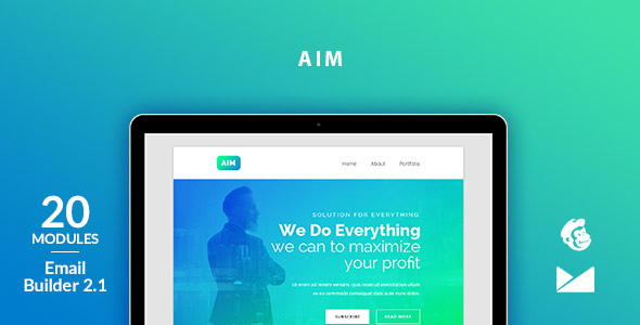 Aim Email Template + Online Emailbuilder 2.1