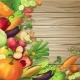 Vegetables On Wood Concept