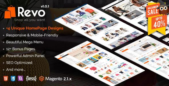Revo – Responsive Magento 2 Shopping Theme (Shopping) Download