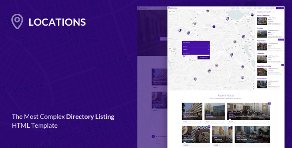 Locations - Directory Listing HTML Template