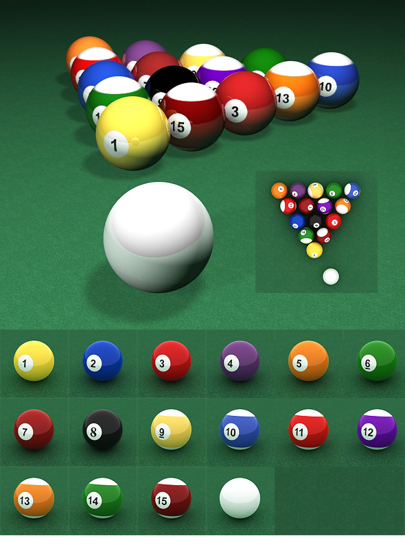 3DOcean Billiard Ball Set 71140
