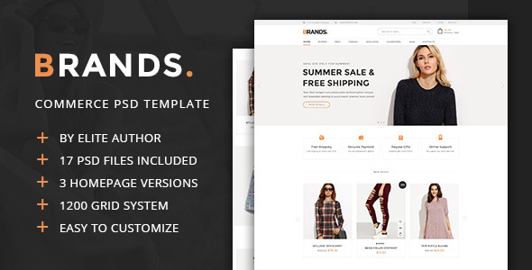 Brands - Commerce PSD Template