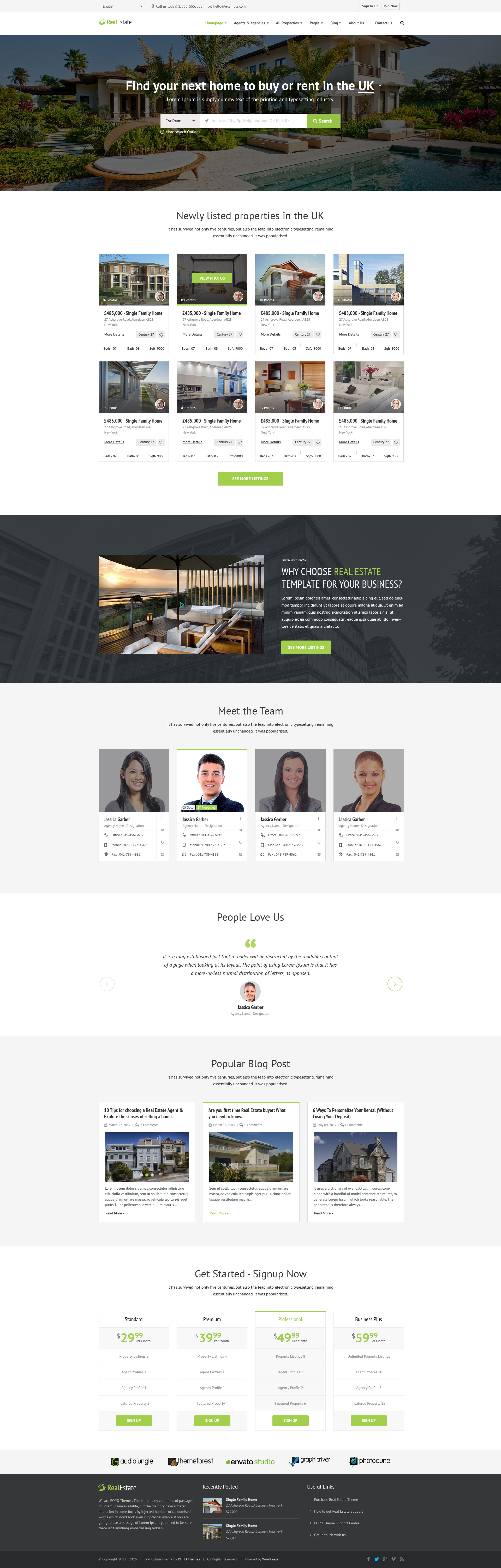 property listing no 1 real estate psd template by popothemes themeforest. Black Bedroom Furniture Sets. Home Design Ideas