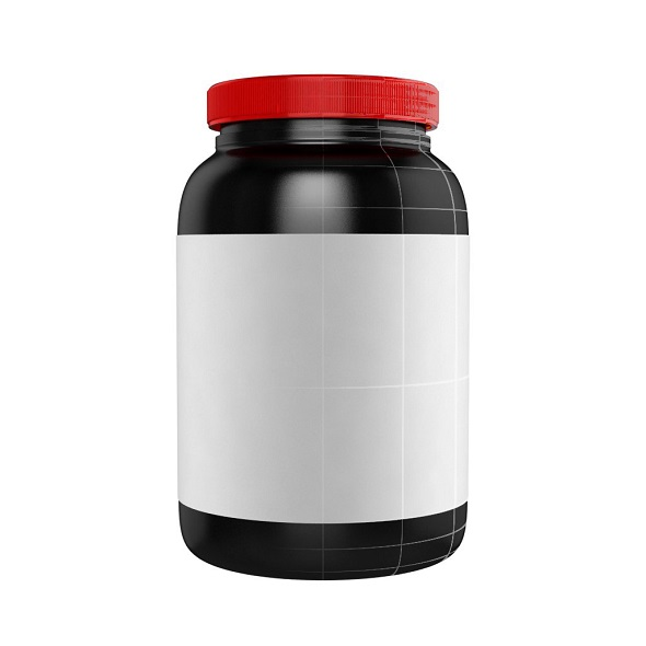 Protein Bottle with Red Cap - 3DOcean Item for Sale