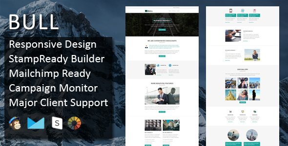 Bull - Multipurpose Responsive Email Template + Stampready Builder