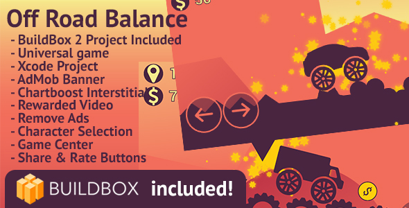 Off Road Balance: iOS, BuildBox Included, Easy Reskin, AdMob, Chartboost, HeyZap, Remove Ads - CodeCanyon Item for Sale