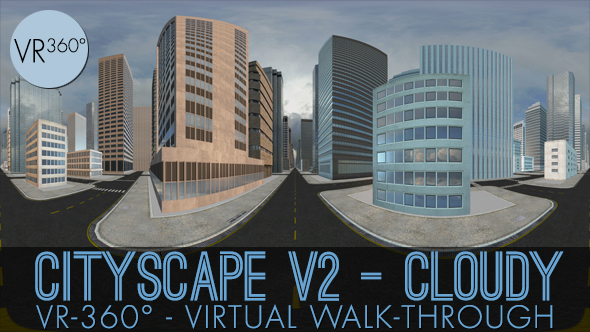 Download VR-360° Cityscape V2 Cloudy nulled download