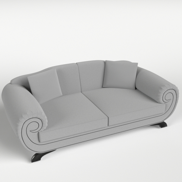 Couch Sofa 1 with pillows - 3DOcean Item for Sale