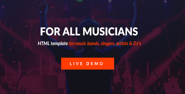 Mizer - Musicians, Deejays, Singers, Bands HTML template