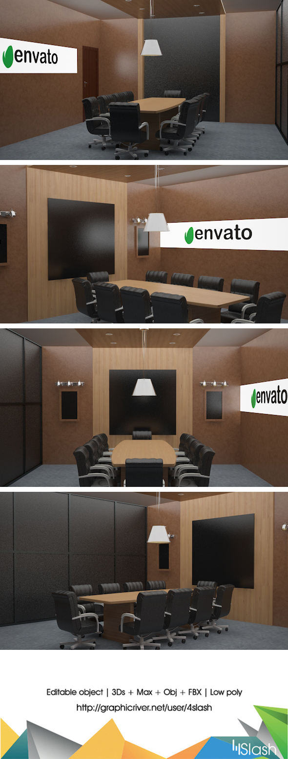 3d Meeting Room - 3DOcean Item for Sale