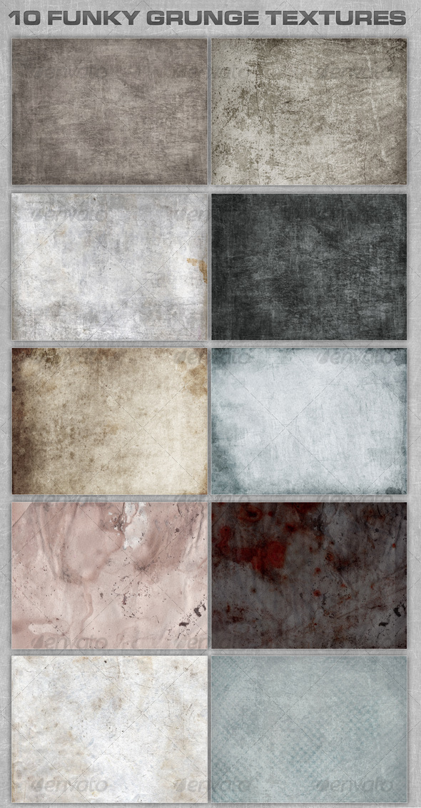 GraphicRiver 10 Funky Grunge Textures 71182