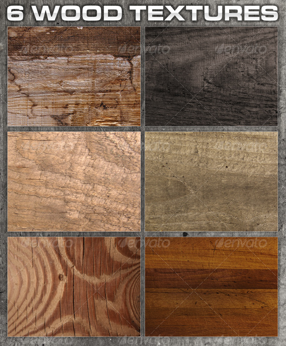 6 Rough Wood Textures  - Wood Textures