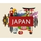 Japan Travel Concept With Famous Attractions