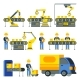 Manufacturing Process With Production Factory Line