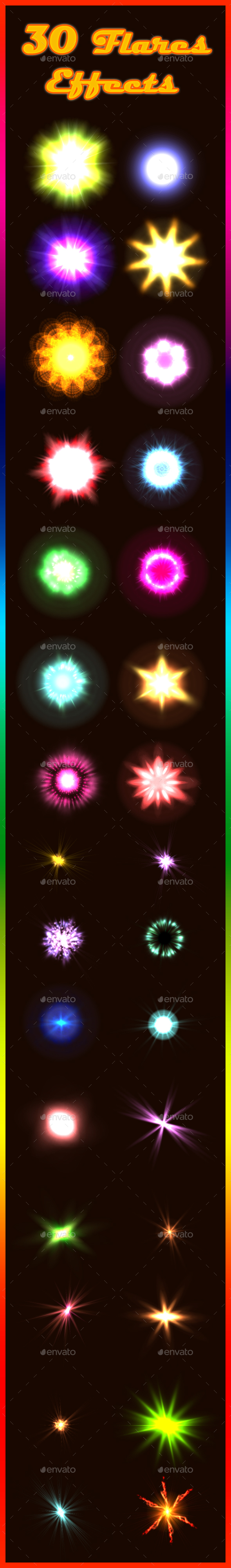 30 Flares Effects (Sprites)