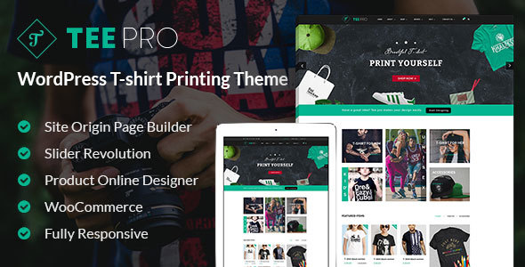 Download T-shirt Responsive WordPress Theme