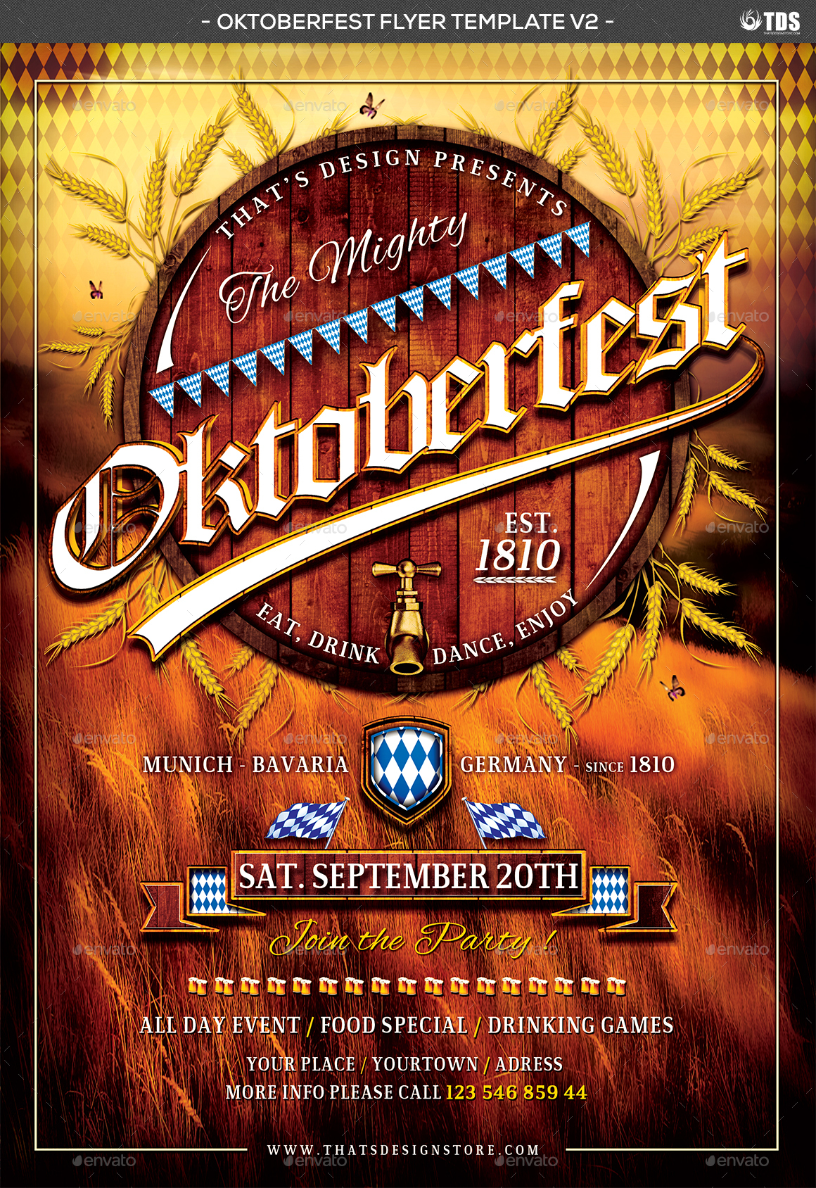 04_Oktoberfest%20Flyer%20Template%20V2  Inch Letters Template on sample business, sample request, basic cover,