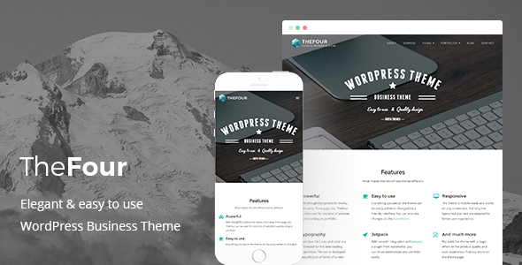Download TheFour - WordPress Business Theme