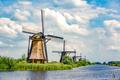 Traditional dutch windmills near Kinderdijk