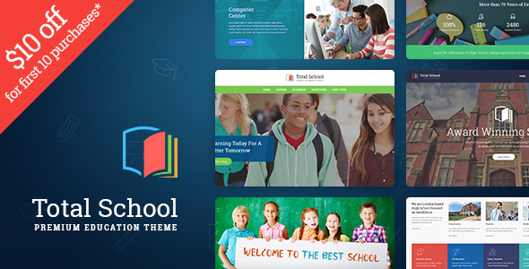 Download Total School - Primary, Secondary & High School Education WordPress Theme nulled download