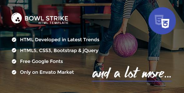 Bowl Strike - Responsive HTML template