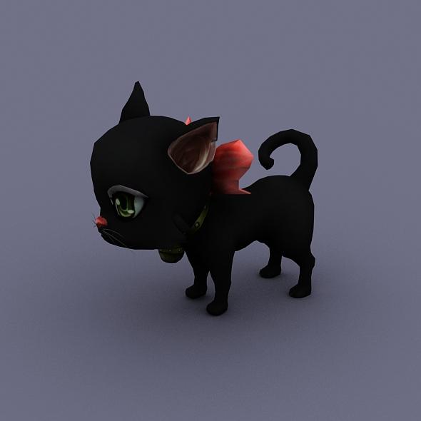 3DOcean cat black 18552969