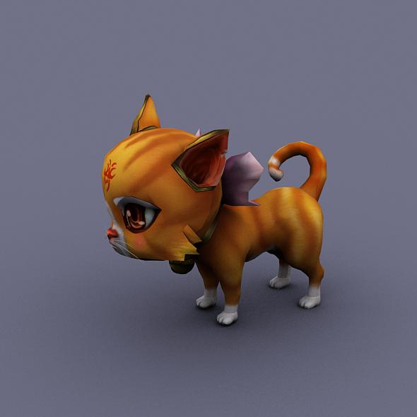 3DOcean cat orange 18552999