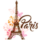 Decorative Background with Paris