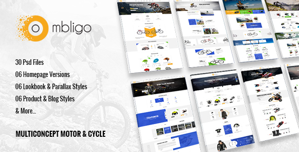 Ombligo Shop - Multi Concept Motor & Cycle PSD Templates