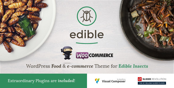 Edible - WordPress Food & e-commerce Theme for Edible Insects