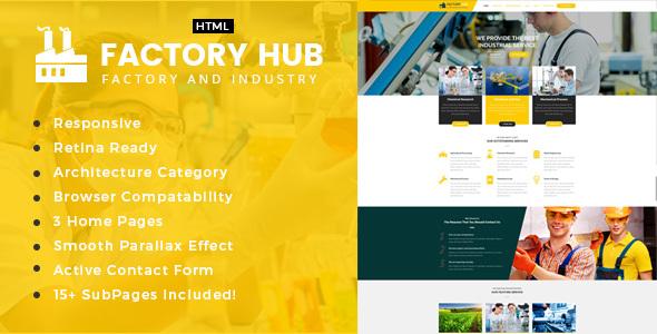 Factory Hub – Factory &amp Industrial Enterprise Template (Enterprise)