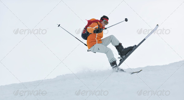 ski freeride - Stock Photo - Images