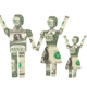 Happy Family Made From American One Dollar Bill