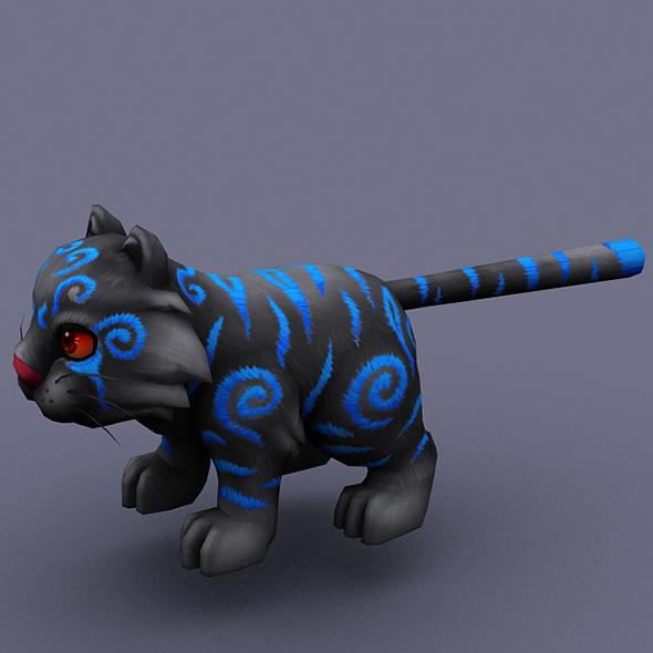 funny cat black - 3DOcean Item for Sale