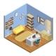 Study Room Illustration