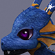 funny dragon blue