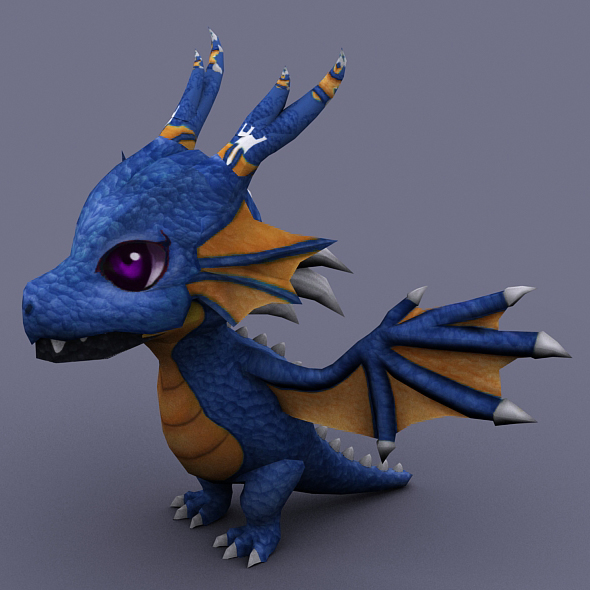 funny dragon blue - 3DOcean Item for Sale
