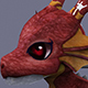funny dragon red
