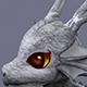 funny dragon white