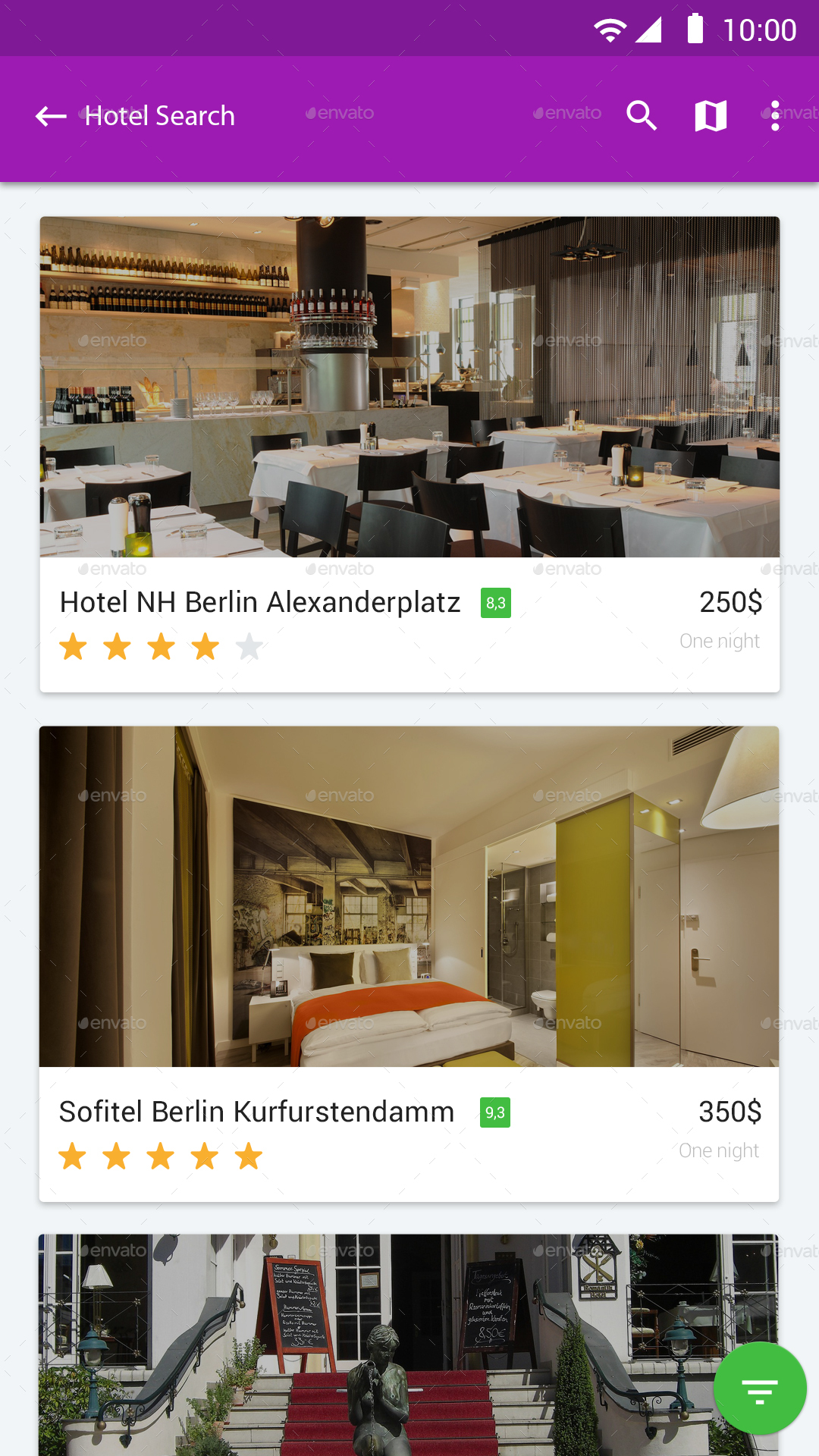 Hotel booking material design ui by design grapahma for Hotel booking design