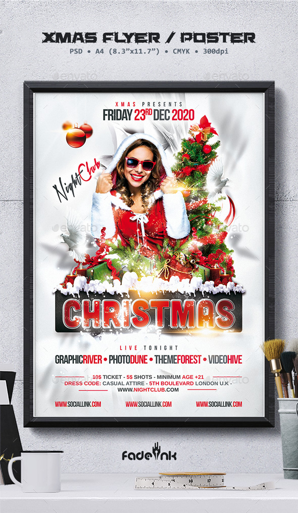 Christmas Party Flyer / Poster Template