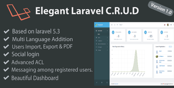 Download Elegant Laravel C.R.U.D nulled download