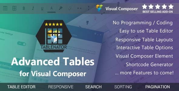 Download Tablenator - Advanced Tables for Visual Composer nulled download